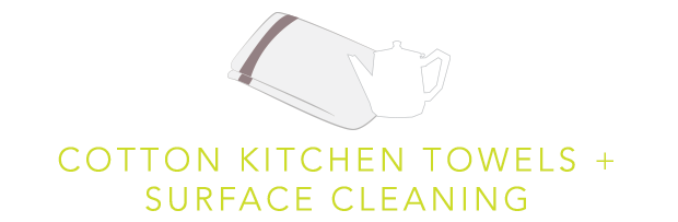 Cotton Kitchen Towels Plus Surface Cleaning